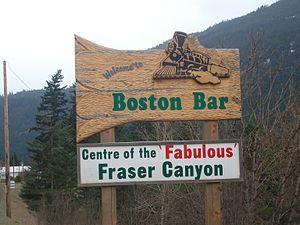 Boston Bar, British Columbia - Boston Bar's welcome sign
