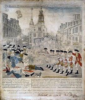 Boston Massacre Confrontation that occurred on March 5, 1770