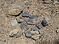 Bota coal spoil stones at Botayama Wanpaku Park.jpg
