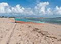 Bote a orillas de la Playa de San Carlos.jpg