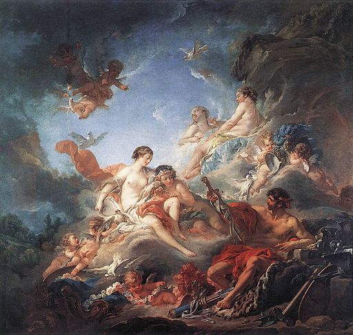 Boucher Vulcan Presenting Venus with Arms for Aeneas