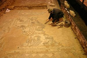 History of the Isle of Wight - Roman mosaic at Brading Roman Villa