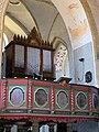 Brandshagen, Nordvorpommern, Dorfkirche, Orgel und Orgelempore (2008-07-2).JPG
