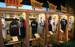 "Ivan Allen Jr. Braves Museum and Hall of Fame - Individual exhibits for the Braves' NL championship seasons as seen in the ""Atlanta"" exhibit"