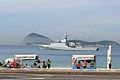 Brazilian Navy ship in Ipanema beach.jpg