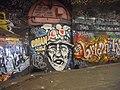 Brian Haw Graffiti in Leake Street-The Tunnel - geograph.org.uk - 2489358.jpg