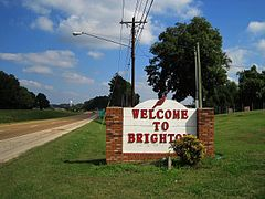 Skyline of Brighton, Tennessee