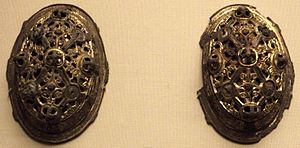 "Viking art - Pair of ""tortoise brooches,"" which were worn by married Viking women"