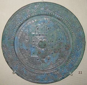 TLV mirror - TLV mirror from the Han dynasty