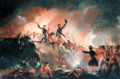 British taking of the Northeast Bastion during the night assault on Fort Erie, August 14, 1814.png