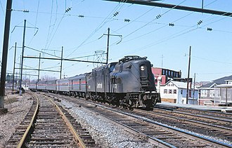 Middletown station (Pennsylvania) - The Broadway Limited passing through the station in 1980