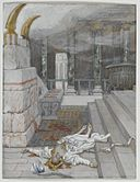Brooklyn Museum - Zacharias Killed Between the Temple and the Altar (Zacharie tué entre le temple et l'autel) - James Tissot - overall.jpg