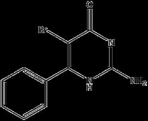 Bropirimine - Image: Bropirimine structure
