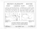 Brown-Parrott House, State Route 680, Crozet, Albemarle County, VA HABS VA,2-CROZ.V,1- (sheet 1 of 11).png