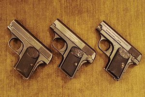 FN M1905 - Browning pocket FN1906 pistols, .25 Auto, various issues. Three different Safe systems.