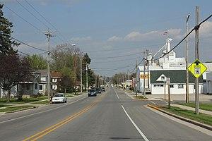 Brownsville, Wisconsin - Looking east in Brownsville on Wisconsin Highway 49