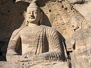 Buddhas in collapsed cave Yungang