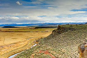 Malheur National Wildlife Refuge - A view of Steens Mountain from an overlook located in the Malheur National Wildlife Refuge