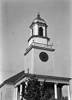 Calvary Methodist Church - Image: Bulfinch steeple (Boylston Market, Boston) Arlington, MA