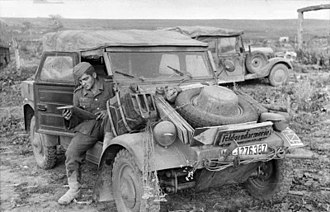Volkswagen Kübelwagen - The Kübelwagen on the Eastern Front in 1943.