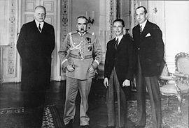 Bundesarchiv Bild 183-B0527-0001-293, Warschau, Empfang Goebbels bei Marschall Pilsudski