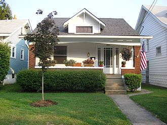 Bungalow - A typical side-gabled bungalow in the Deer Park neighborhood of Louisville, Kentucky, United States