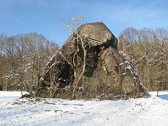 Jossgrund - Remains of an observation bunker on the golf course near Lettgenbrunn