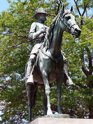 Burnside Park, Providence, Rhode Island - Burnside statue