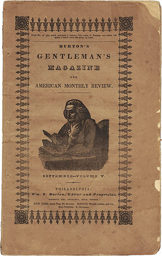 """Burton's Gentleman's Magazine - September 1839 issue of Burton's Gentleman's Magazine, which included the first publication of """"The Fall of the House of Usher"""""""