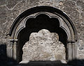 Buttevant Friary Nave North Wall Tomb Niche 2012 09 08.jpg