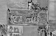 overhead photograph of the missile launch site missile control area