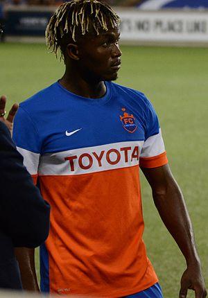 Victor Mansaray - Mansaray playing for FC Cincinnati in 2017