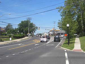 County Route 545 (New Jersey) - CR 545 begins by branching to the right at this intersection in Browns Mills. CR 530 westbound bears left.