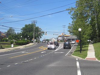 County Route 530 (New Jersey) - CR 530 westbound at the southern terminus of CR 545 in Browns Mills