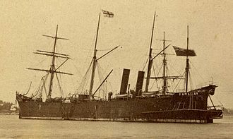 Siemens Brothers - Siemens Brothers and Company cable ship CS Faraday shortly after her launch in 1874. Designed by Sir William Siemens she was finally scrapped in 1950. Replaced in 1923 by a new CS Faraday sunk by bombing 1941