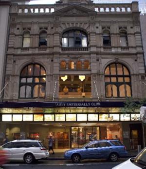 City Tattersalls Club - Front view from Pitt Street, Sydney