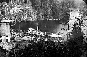 General Miles - Willapa in Canadian service, at Clayoquot cannery, on the west coast of Vancouver Island, some time between 1897 and 1902.