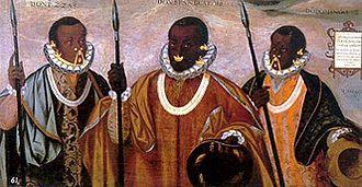 Zambo - 16th-century painting of Zambo Caciques from Esmeraldas, Ecuador