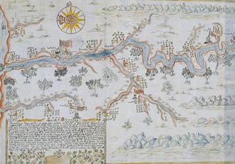 Cagayan River - An old drawn geographical description of Cagayan River (Juan Luis de Acosta, Circa 1720)