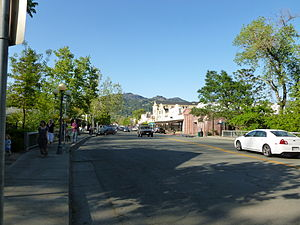 Looking north near 1277 Lincoln Avenue in Calistoga