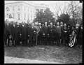Calvin Coolidge and group outside White House, Washington, D.C. LCCN2016893958.jpg