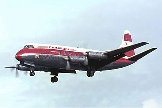 Vickers Viscount four-engined turboprop airliner
