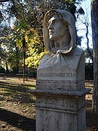 Campo Marzio - busti del Pincio - Arnaldo da Brescia 1000464.JPG
