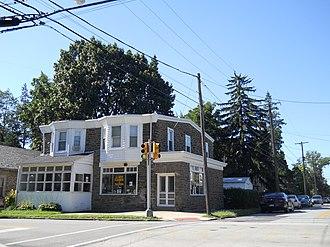 La Mott, Pennsylvania - La Mott, corner of Willow Avenue and Sycamore Avenue. September 2012.