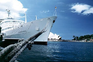 SS Canberra, Docked in Sydney Harbour