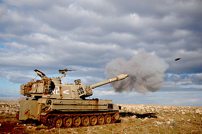 Cannon fire - M109 self-propelled howitzer.jpg