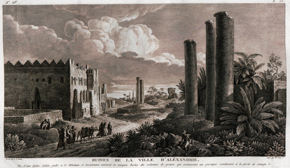 Canopic Street Alexandria 1784 by LF Cassa
