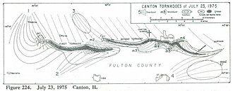 1975 Canton, Illinois, tornado - Image: Canton IL Tornado 1975