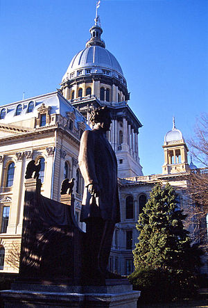 Richard Yates (politician, born 1815) - Statue by Polasek outside the State Capitol