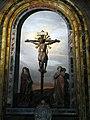 Cappella del crocifisso, crocifisso dei bianchi (1404 ca.) e dolenti della bottega di luca della robbia (1430-50 ca.) 01.JPG